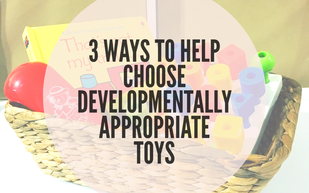 3 WAYS TO HELP YOU CHOOSE DEVELOPMENTALLY APPROPRIATE TOYS